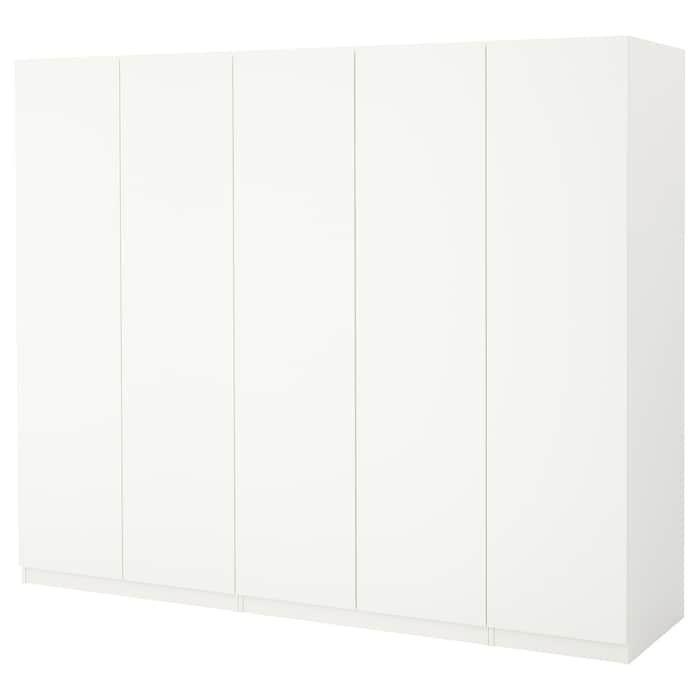 PAX Wardrobe white, Ballstad white 98 3/8x23 5/8x79 1/4