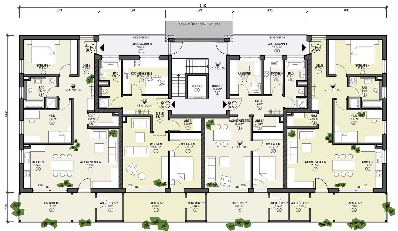 bildergebnis fr grundriss mehrfamilienhaus mit aufzug - Mehrfamilienhaus Grundriss Beispiele