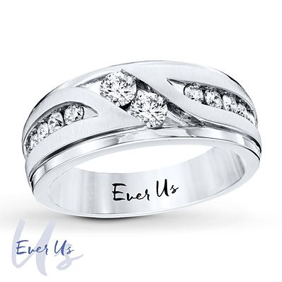 54e0993121 This Ever Us two-stone wedding band for him represents the love you share with  your best friend and true love.