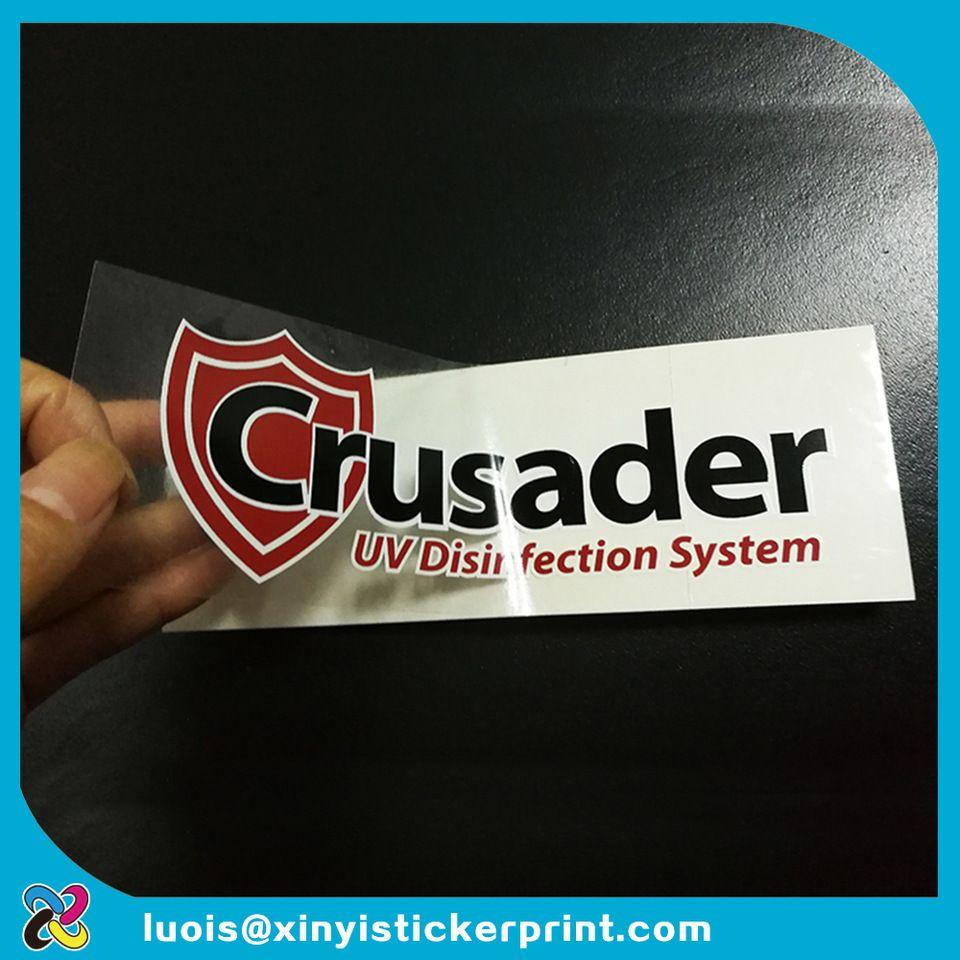 Custom silk screen printing transparent vinyl water proof uv resistant outdoor letter logo decal sticker