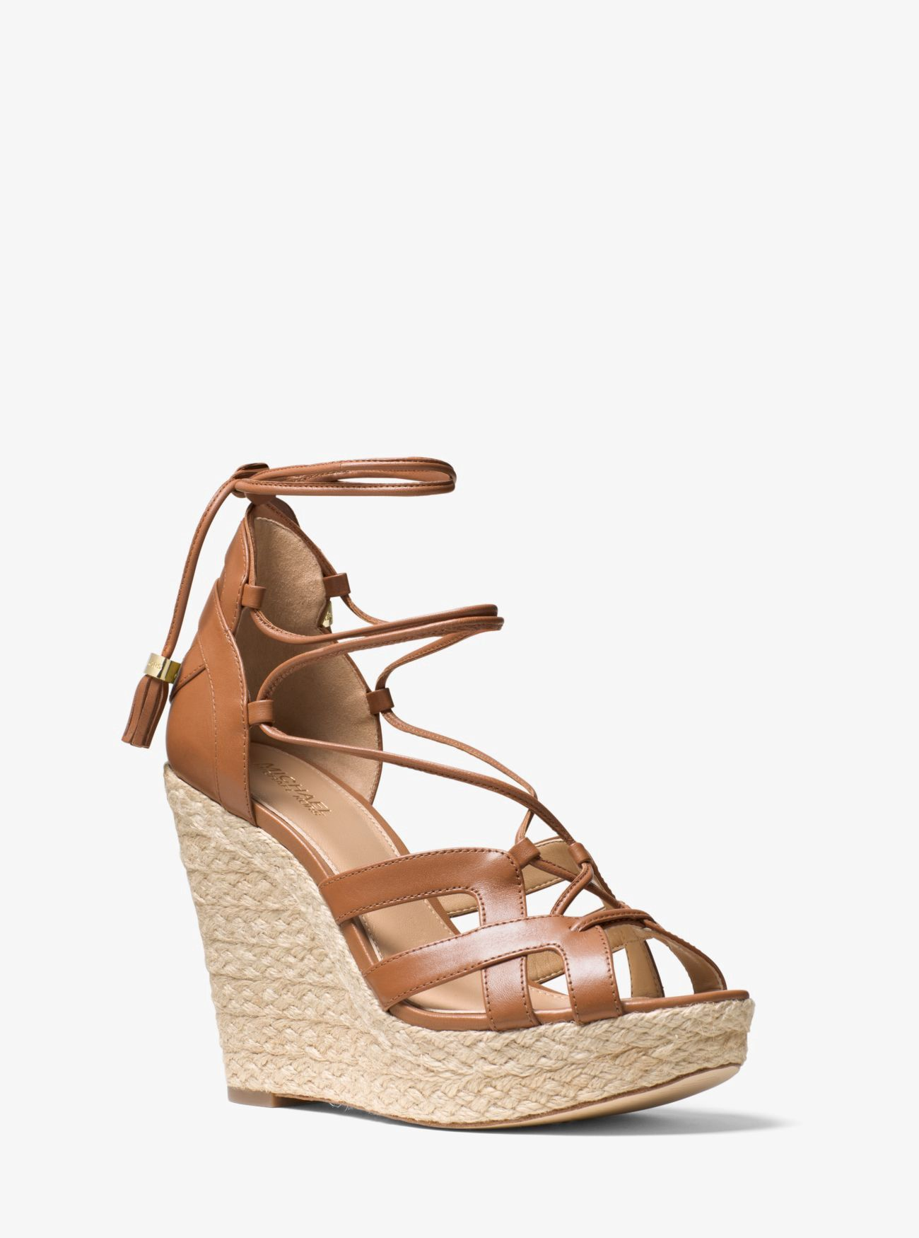 4598daa4c7b MICHAEL KORS Mirabel Leather Lace-Up Wedge.  michaelkors  shoes  all ...