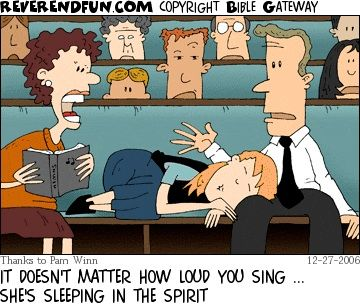 Sleeping in the Spirit | amen | Christian comics, Humor, Comics