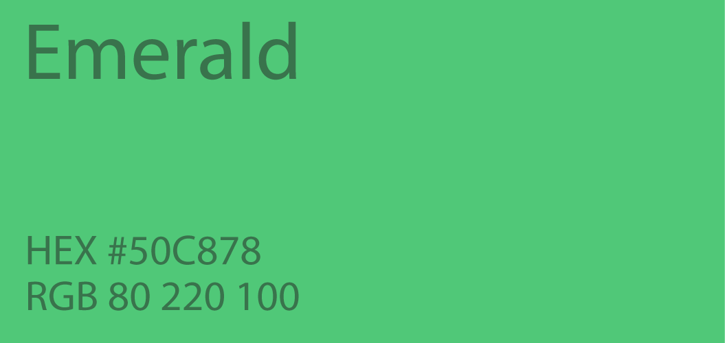 Emerald Green Color Paint Code Swatch Chart Rgb Html Hex