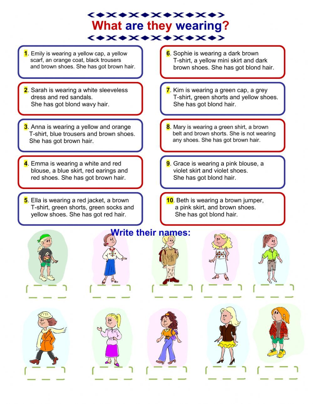 The clothes interactive and downloadable worksheet. Check your answers  online or send them to yo…   Clothes worksheet [ 1291 x 1000 Pixel ]