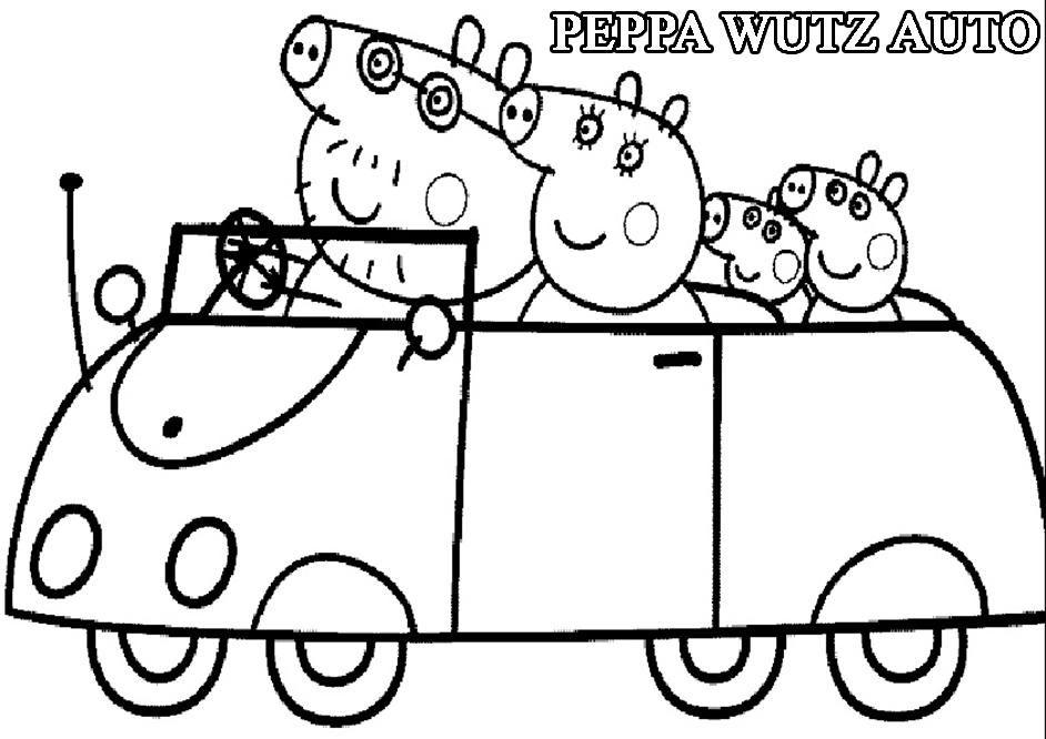 Ausmalbilder Peppa Wutz Auto Enna Peppa Pig Coloring Pages