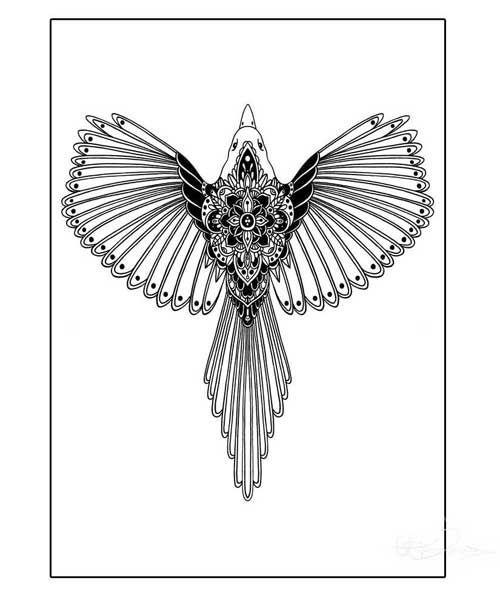Magpie Poster A4 Hanna Karlzon Art Pinterest Magpie