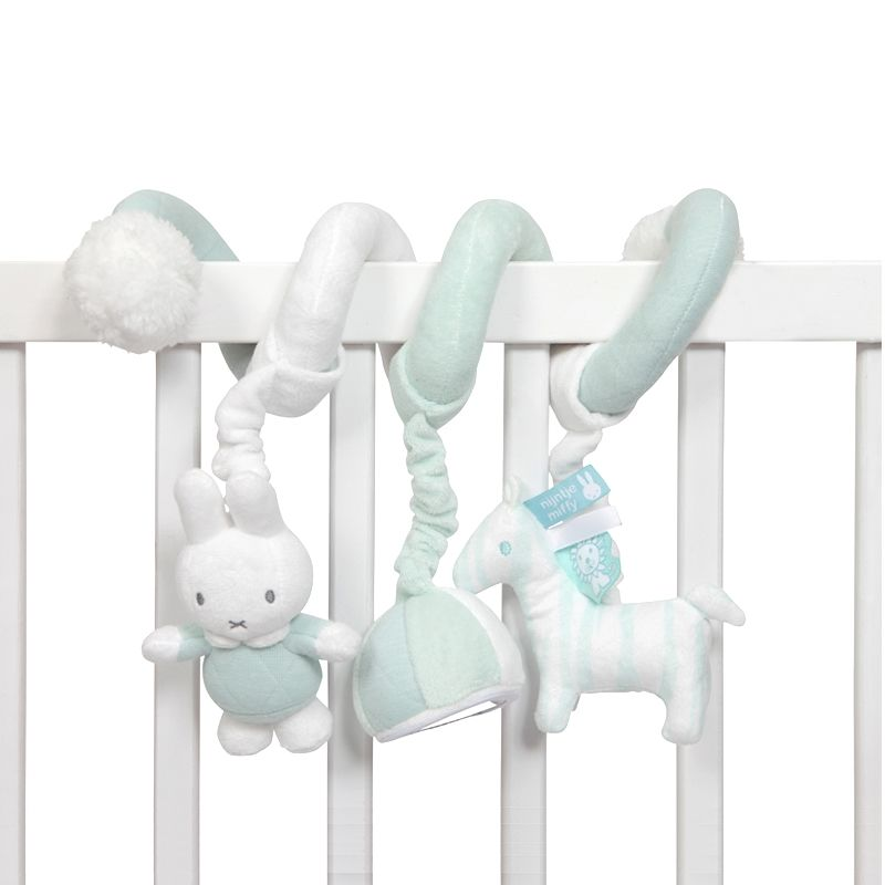Miffy Hase Activityspirale 'Safari' mint/weiß ca. 24cm