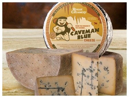 Caveman Blue Cheese from Rogue Creamery. A fruity, crystaly, fudgy, buttery, and nutty blue. Delish! Could possibly be paired well with chocolate. #cheese (If you haven't tried this, you're missing out. -av)