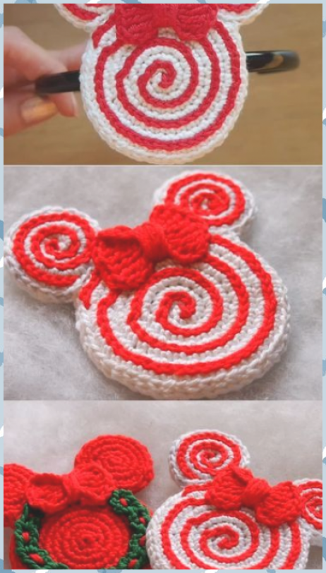 Design Discount Crochet Pattern Package : 2 Sets of 6 and 2 sets of 3 Christmas Ornaments Mickey Mouse, Santa Claus, Grinch #Christmas #Claus #crochet #Design #Discount #Grinch #Mickey #mouse #Ornaments #Package #pattern #Santa #Sets