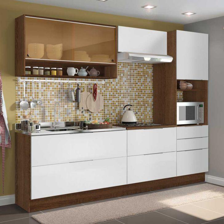 Cozinha Completa Linear 6 Pt 5 Gv Rustic Moveis Cozinha Cozinha
