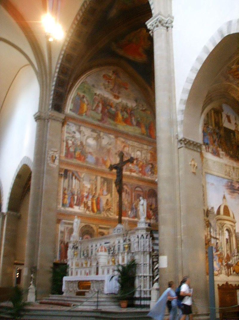 Cappella Tornabuoni - Basilica di Santa Maria Novella, Firenze - affreschi di  Domenico Ghirlandaio - 1486-90