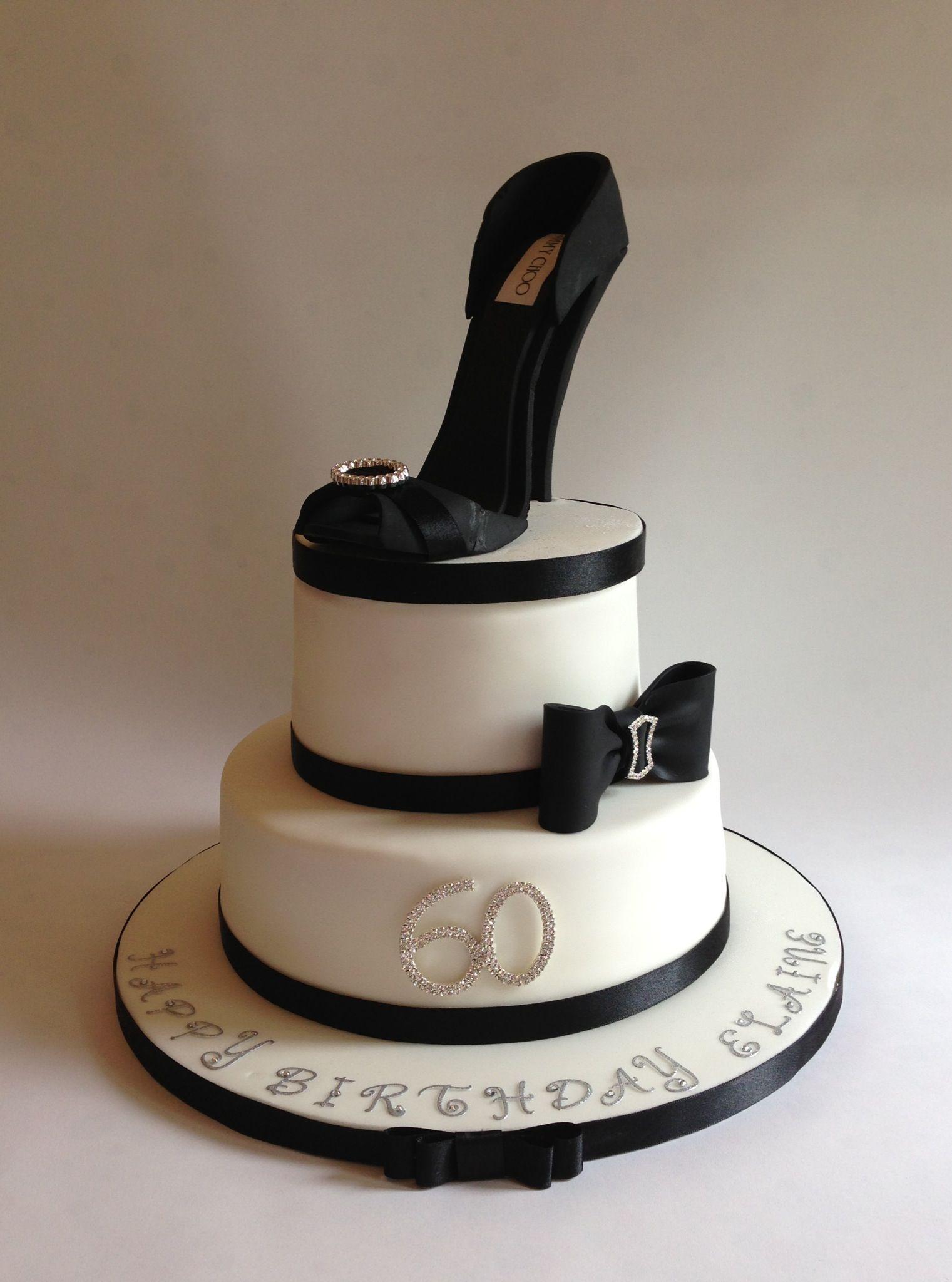 Jimmy Choo inspired birthday cake for Elaine's 60th ...
