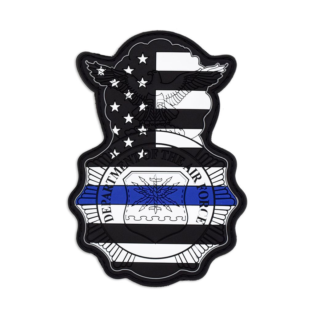 usaf security forces thin blue line badge badges