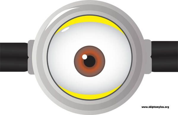photo regarding Minions Eyes Printable called Free of charge Printables For Minion Throw Video game Playing cards Minions eyes
