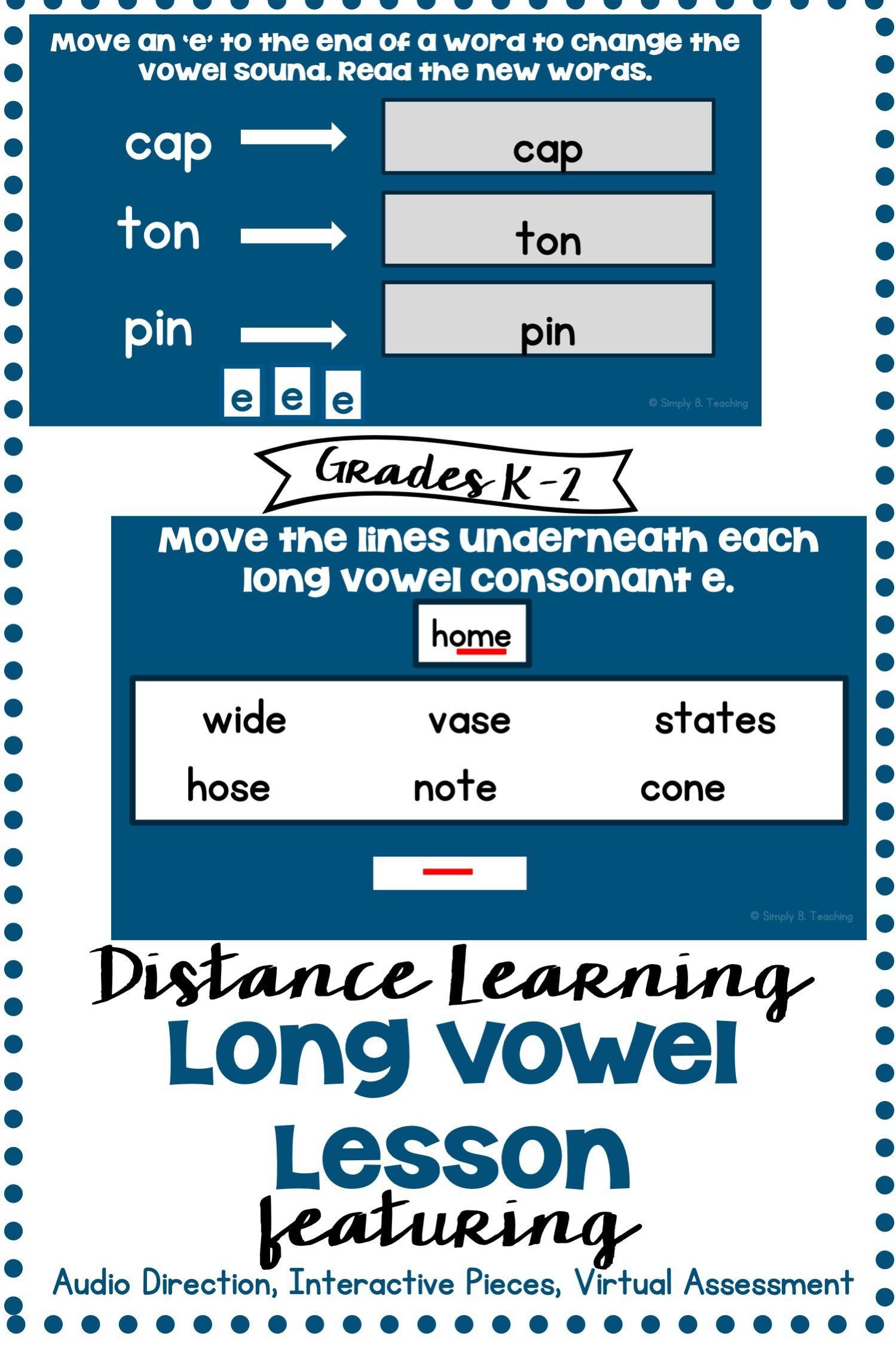 Long Vowel Sound Worksheets For Distance Learning Bundle