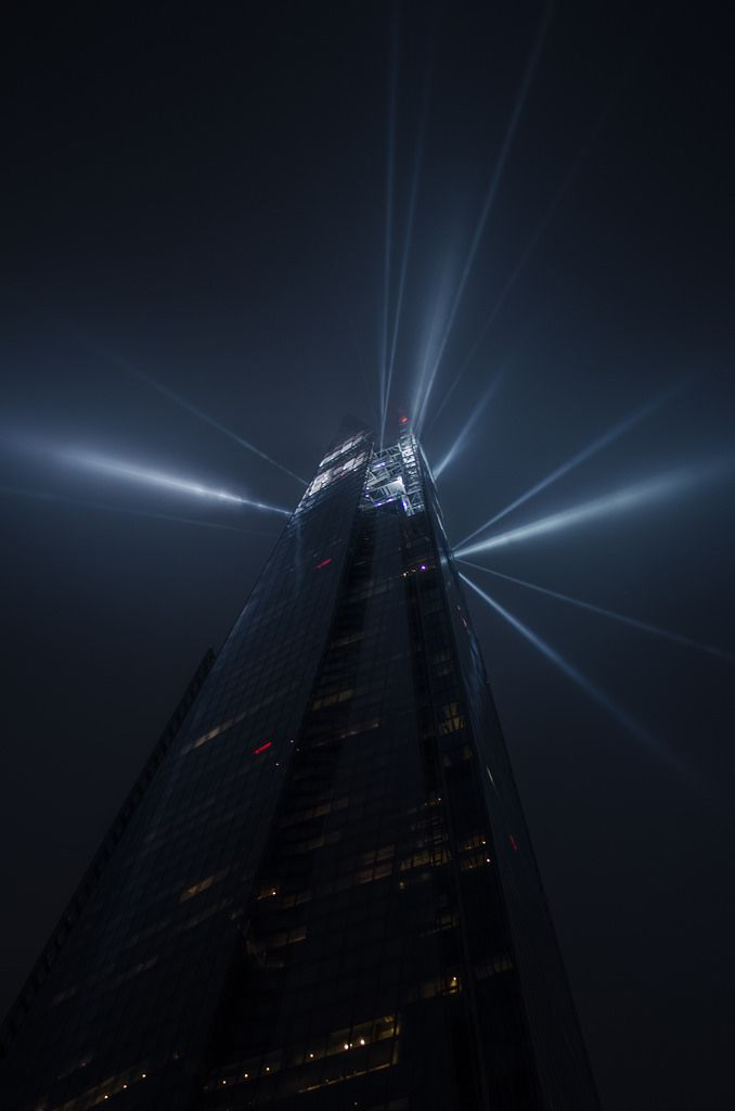 The Shard in London looks like the citadel from HL2 right now
