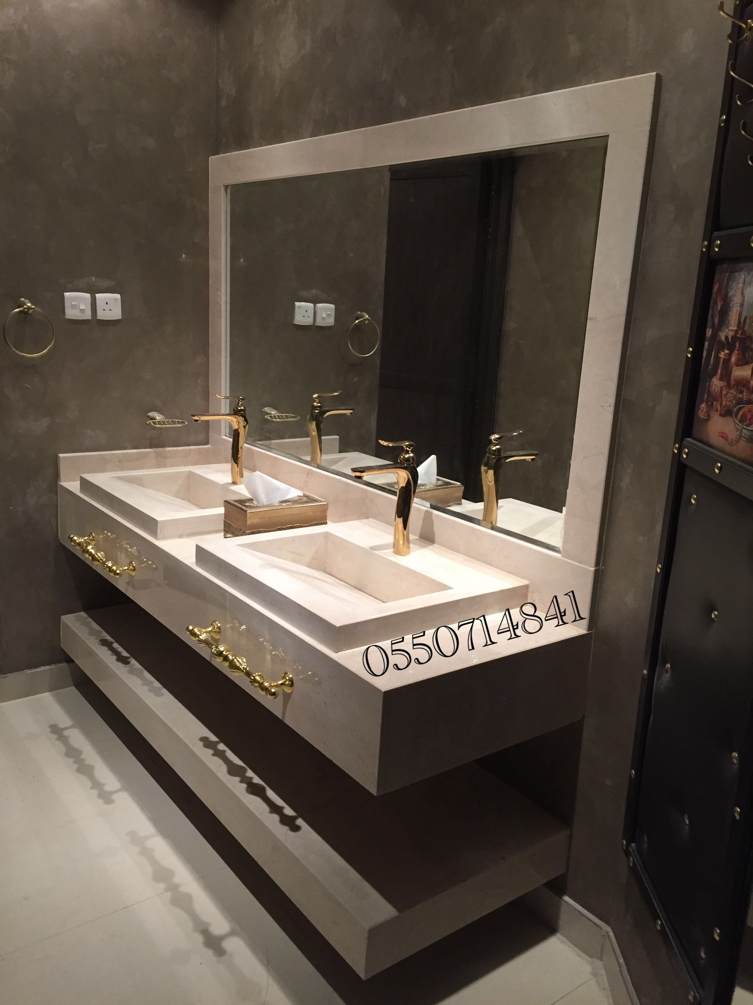Pin By رخام طبيعي مغاسل درج أرضي On 0550714841 Bathroom Interior Bathroom Mirror House Design