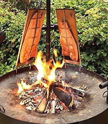 Neu Original finnisches Flammlachs Brett 2er Set für Tundra Grill oder  OB08