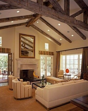 Best All White Furniture And Dark Beams Mediterranean Living 400 x 300