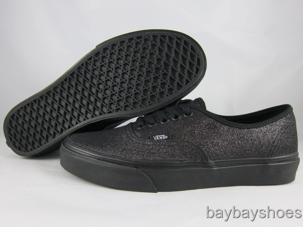 vans glitter authentic black