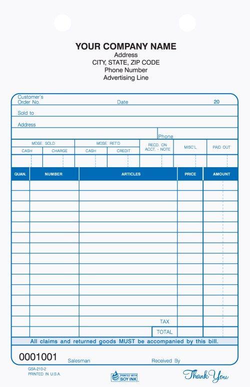 2 Part Auto Service Register Tickets Carbonless Invoice Design Template Microsoft Word Invoice Template Invoice Design