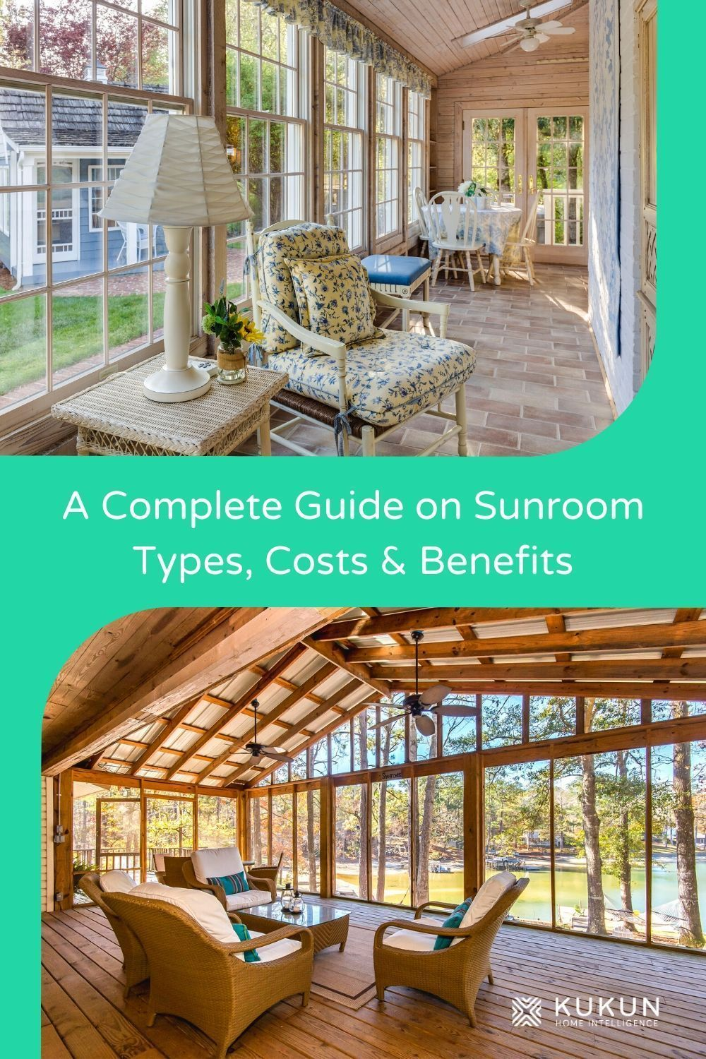 Thinking about adding a sunroom to your home? Let's explore the various types, benefits, and costs of sunroom addition. #HomeAddition #SunroomIdeas #HomeDesignIdeas