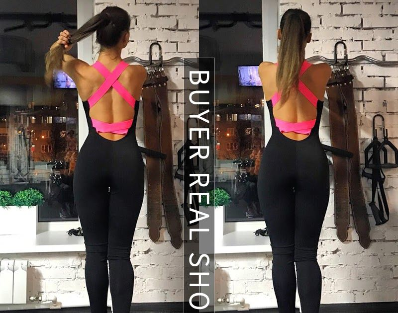 607f1ed8fa973f Promo Offer Yel Hot Sexy Girls Backless Playsuit Fitness Tights Jumpsuits Costume  Yoga Sport Suit Gym Tracksuit For Women One Piece Bodysuit