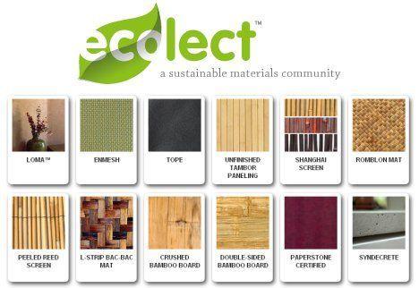Green Design Materials Board Interior Design Sustainable