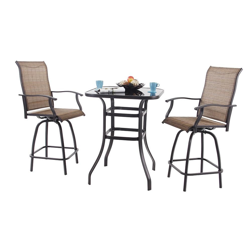 Fantastic Phi Villa Swivel Bar Stools With Arms Height Patio Bar Machost Co Dining Chair Design Ideas Machostcouk