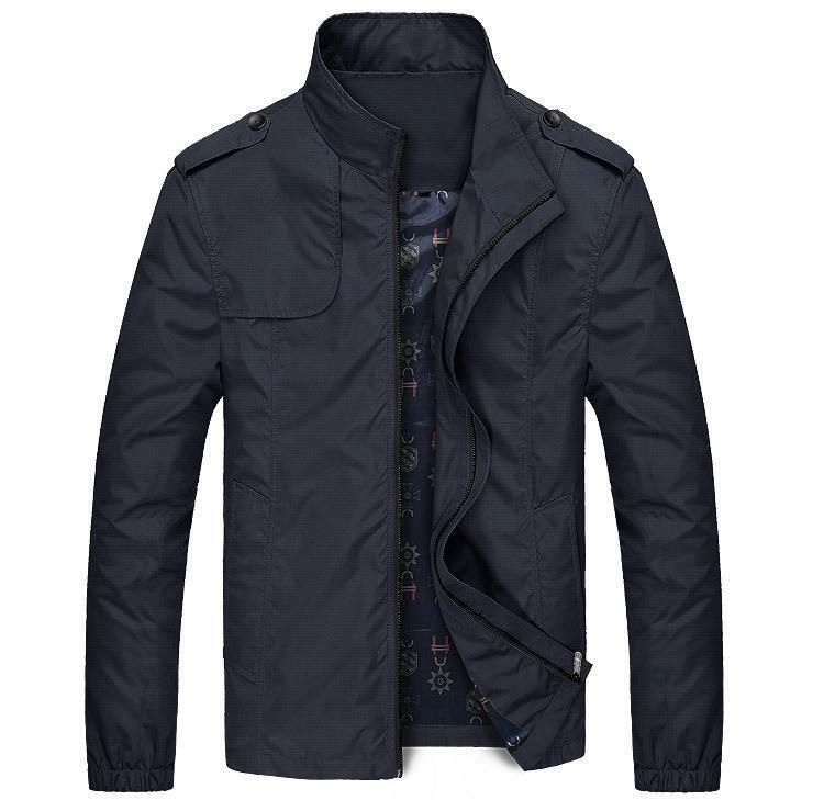 fbfc6000efd Coats Men s Jacket 2018 Solid Casual Outerwear Slim Fit Windproof High  Quality  fashion  clothing
