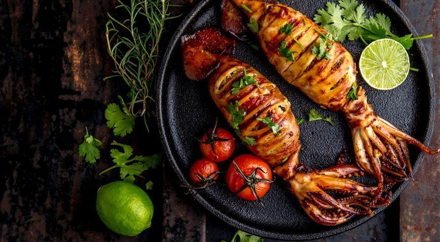 Как приготовить вкусные кальмары | Идеи для блюд, Кальмар, Еда