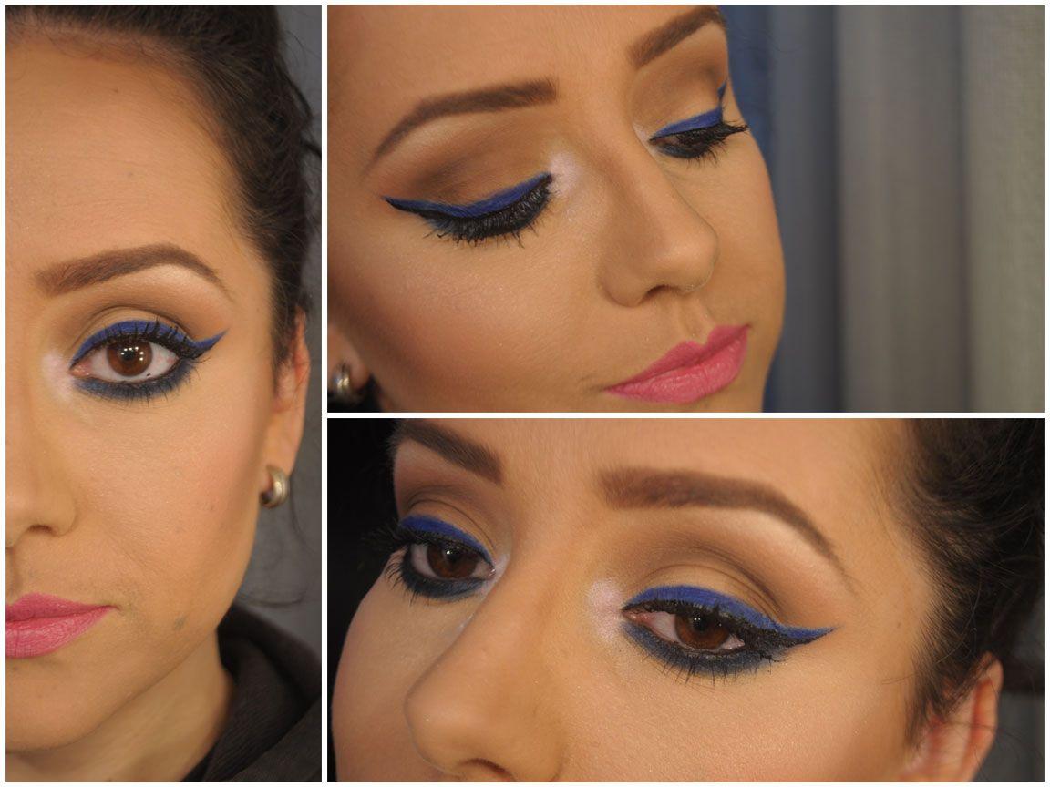 Maquiagem de Sexta – Aquela do delineado azul