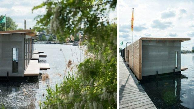 stylische Hausboote in der Nähe von Berlin