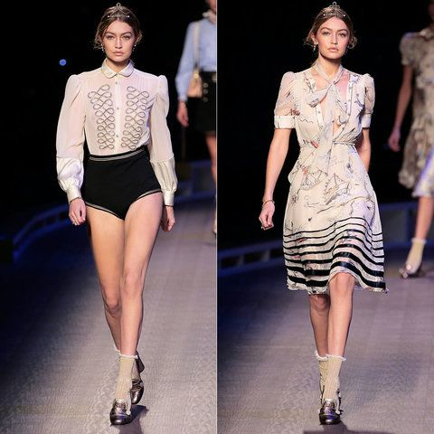71a51f01 Gigi Hadid Sails Down Tommy Hilfiger's Nautical-Inspired Runway Three Times  from InStyle.com