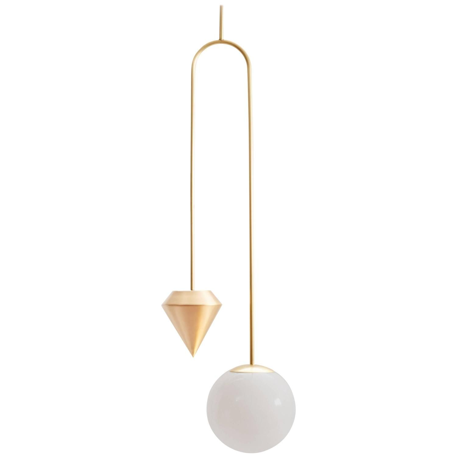 brass globe pendant light. Anna Karlin Short Plumb Brass Pendant Light With Glass Globe D