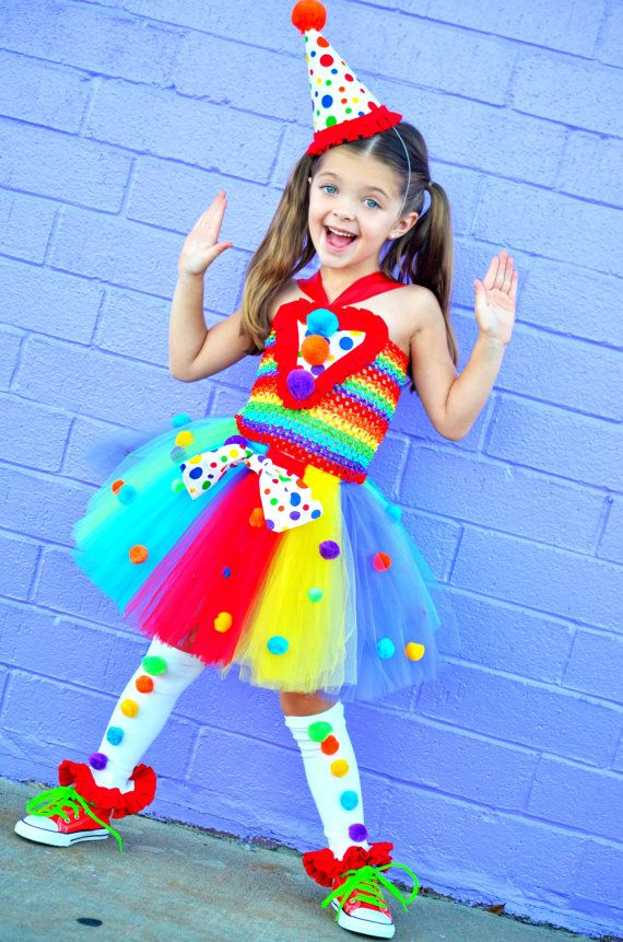 Girls Carnival Tutu Dress..Rainbow ..Birthday Outfit.. Circus Birthday- rainbow tutu- 1st birthday- Clown- Circus Dress #birthdayoutfit