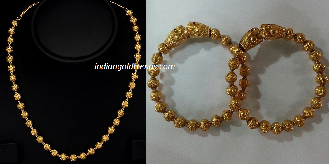 Latest Indian Gold and Diamond Jewellery Designs Antique Gold Balls