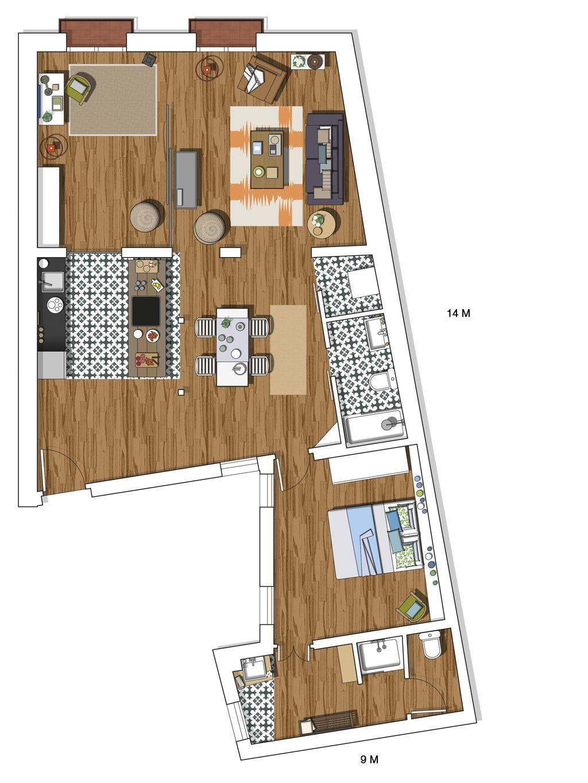 Interiors blog arredamento planimetrie di case for Piantine di case