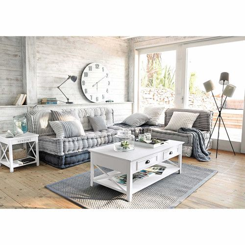 table basse en pin blanc l 120 cm tables basses en bois angles et maison du monde. Black Bedroom Furniture Sets. Home Design Ideas