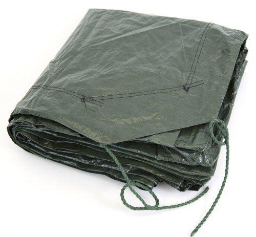 Koch T524003 Cinch Tarp 9 By 9 Feet Green Black Reversible By