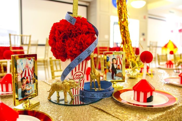 First Birthday Carnival Party Kara S Party Ideas Carnival Party Centerpieces Carnival Birthday Party Theme Carnival Party
