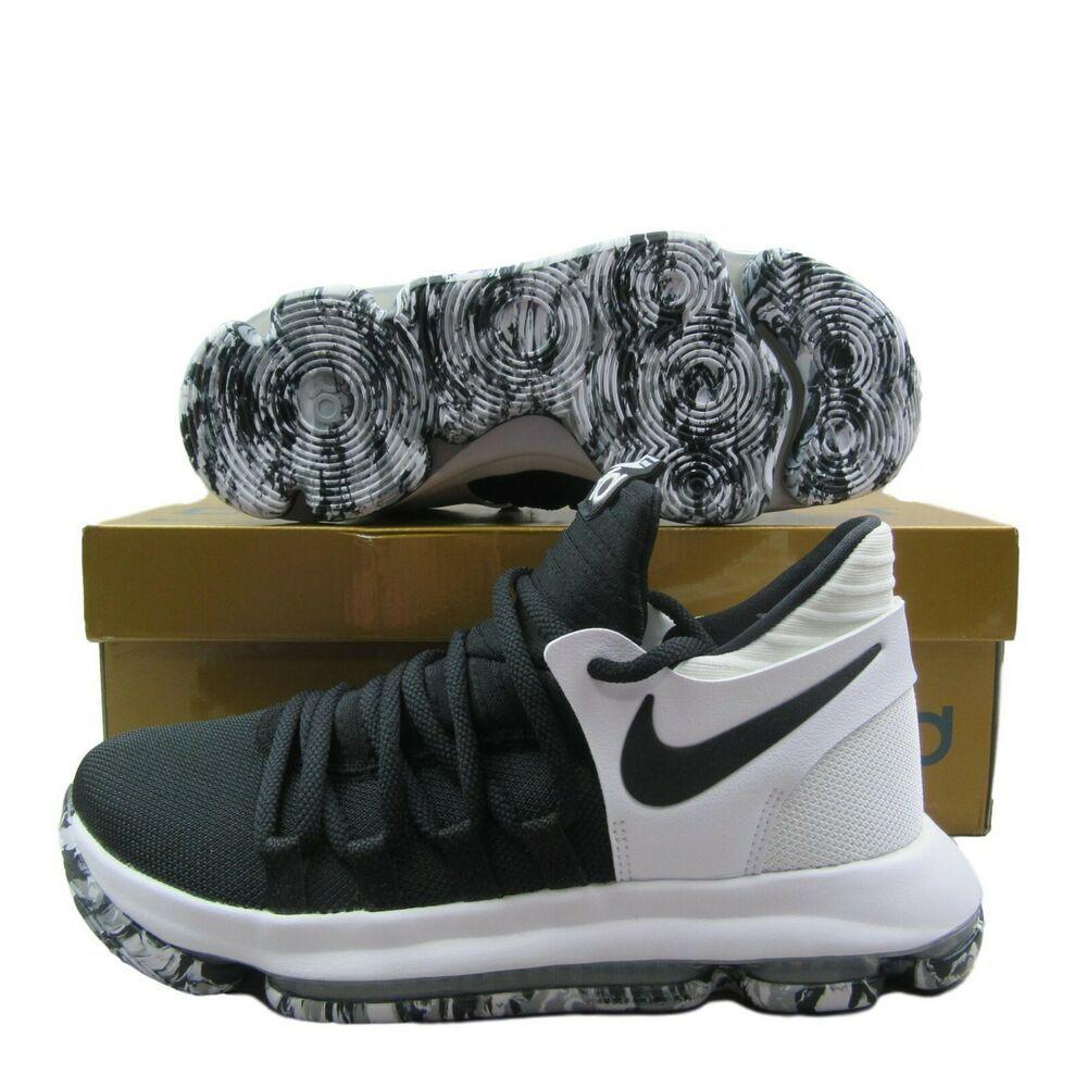 46230cd10a8e7 eBay #Sponsored Nike Zoom KD10 GS Basketball Shoes Black White ...