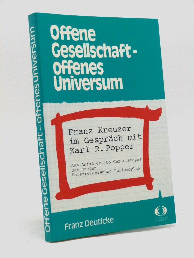 Offene Gesellschaft — offenes Universum - signed and annotated by Karl Popper