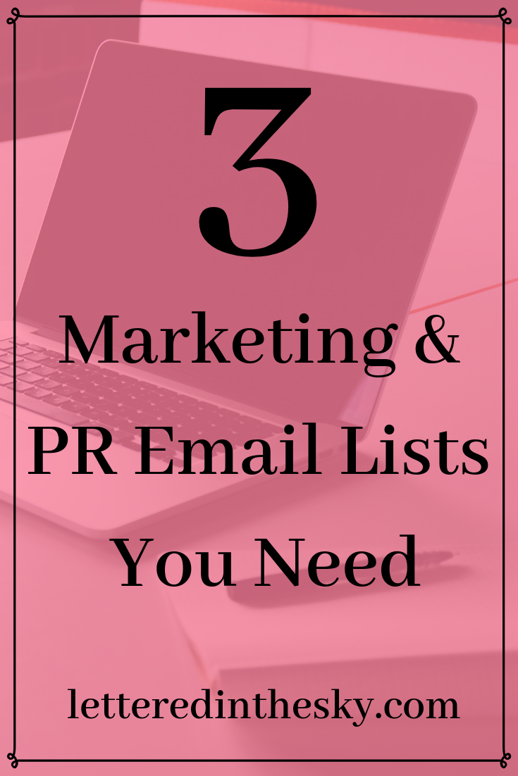 3 Marketing & PR Email Lists You Need Email list, Career
