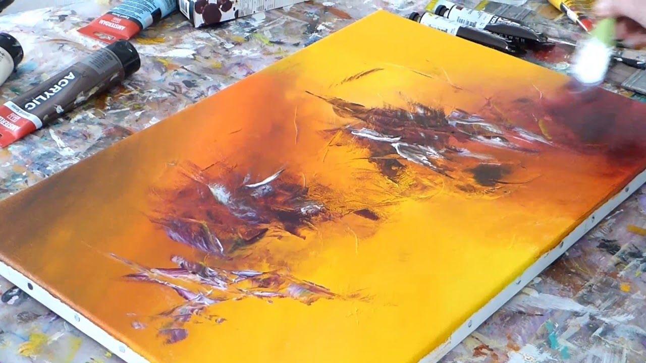 Abstract Painting Techniques Demonstration De Peinture Abstraite