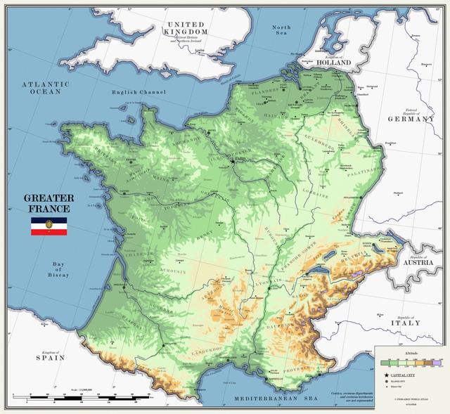 Greater France Imaginarymaps Cartography Map Alternate History Fantasy Map