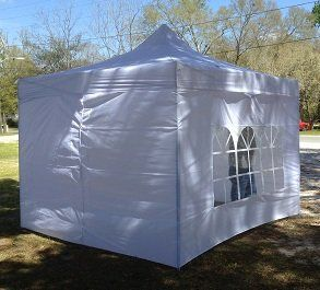Direct Commercial Grade 10 X 10 White Ez Pop Up Party Festival Sports Tent Canopy Gazebo With Removable Side Walls Patio La Cool Tents Gazebo Canopy Tent