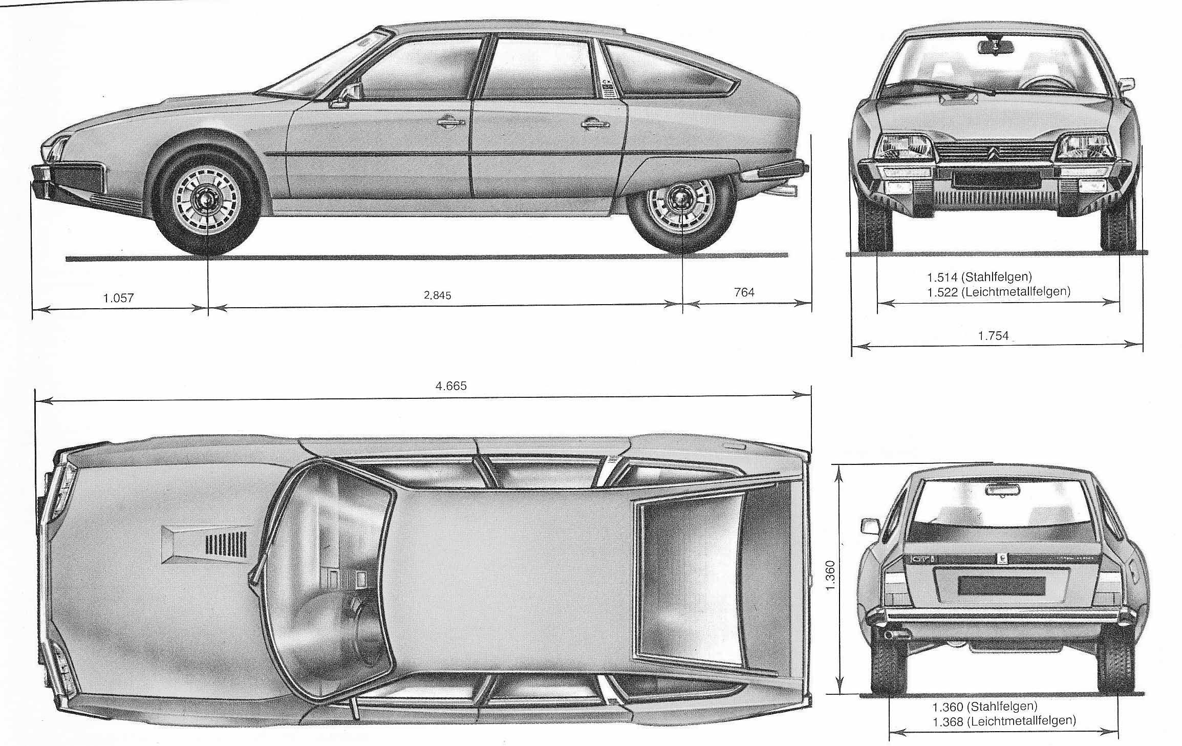 Citroen Cx Blueprint Citroen Cx Blueprints Car