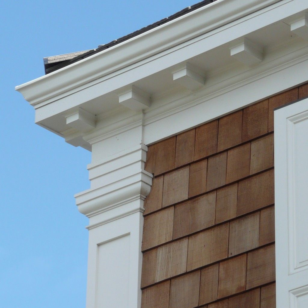 Colonial Home Exterior Trim Design Ideas: Beautiful Exterior Millwork & Shake Shingle