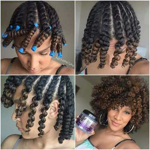 Thick Curls Short Curly Hairstyle For Black Women Natural Hair Styles Hair Styles Short Curly Hair